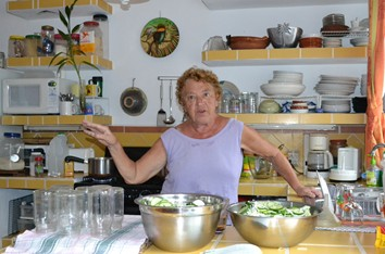 Picture of Franca in her kitchen