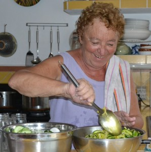 Picture of Franca making pickles