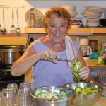 Picrture of Franca making pickles