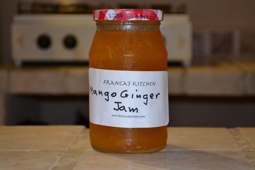 Picture of mango ginger jam